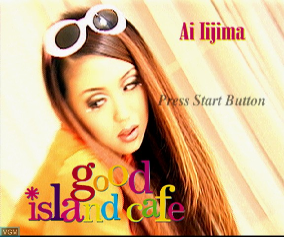 Title screen of the game Ai Iijima Interactive Video Clip - Good Island Cafe on Sega Saturn