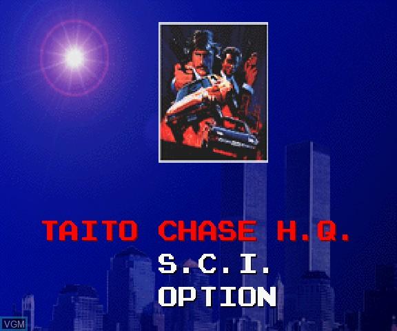 Menu screen of the game Taito Chase H.Q. + S.C.I. on Sega Saturn