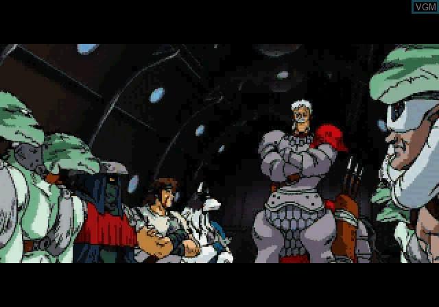 Menu screen of the game Feda Remake! The Emblem of Justice on Sega Saturn