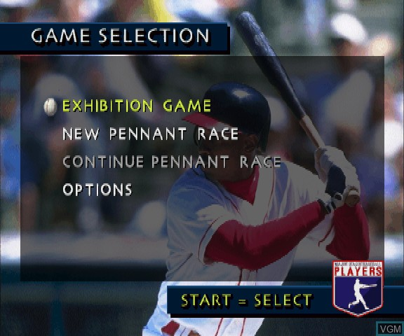 Menu screen of the game 3D Baseball on Sega Saturn