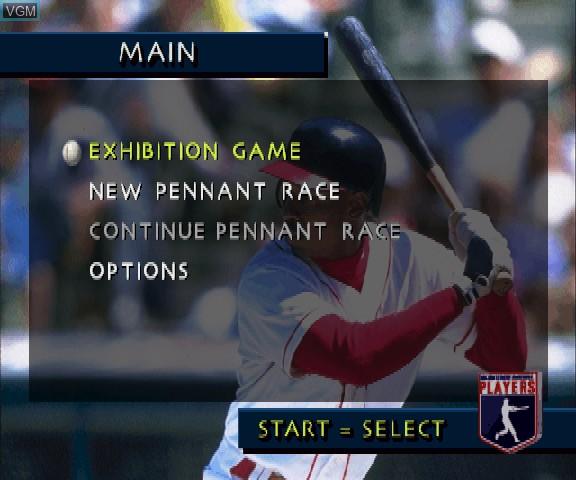Menu screen of the game 3D Baseball - The Majors on Sega Saturn