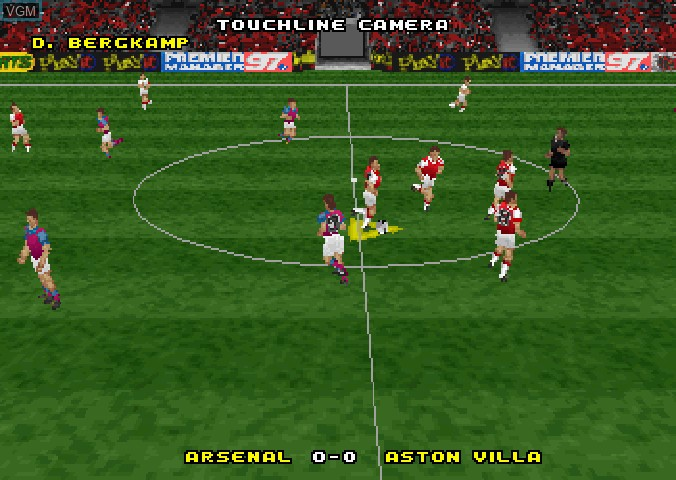 Menu screen of the game Actua Soccer - Club Edition on Sega Saturn