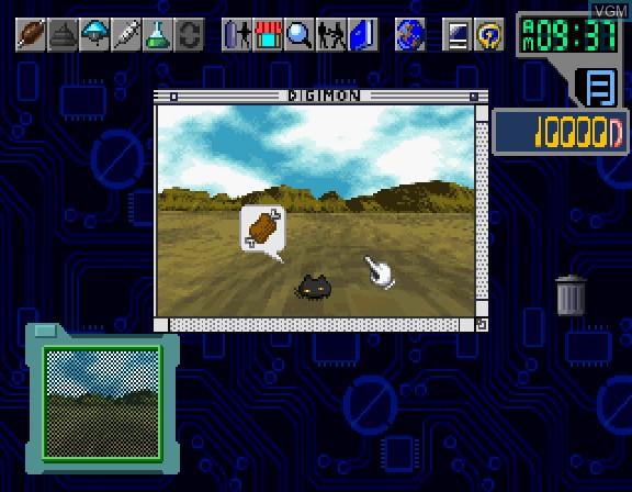 In-game screen of the game Digital Monster Ver. S - Digimon Tamers on Sega Saturn