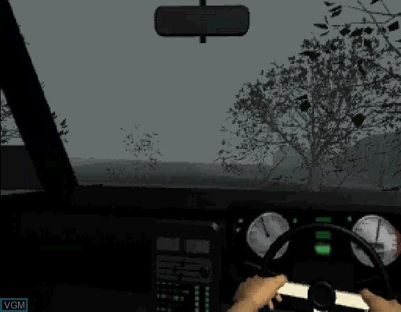 In-game screen of the game Nanatsu no Hikan on Sega Saturn