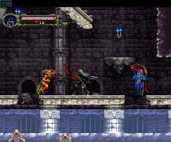 In-game screen of the game Akumajou Dracula X - Gekka no Yasoukyoku on Sega Saturn