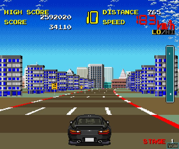 In-game screen of the game Taito Chase H.Q. + S.C.I. on Sega Saturn