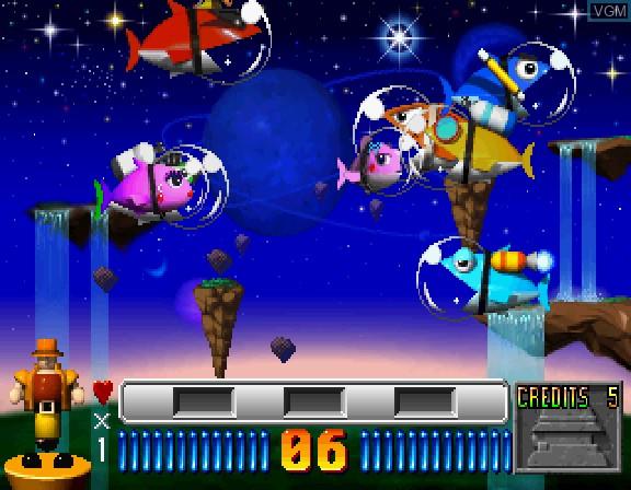 In-game screen of the game 2do Aru Koto wa Sando R on Sega Saturn