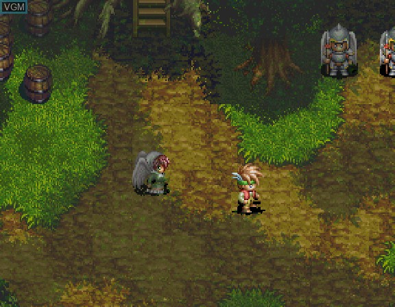 In-game screen of the game Albert Odyssey Gaiden - Legend of Eldean on Sega Saturn