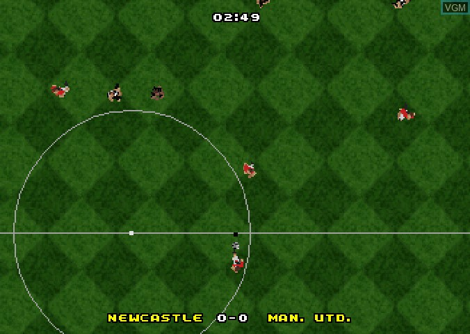 In-game screen of the game Actua Soccer - Club Edition on Sega Saturn