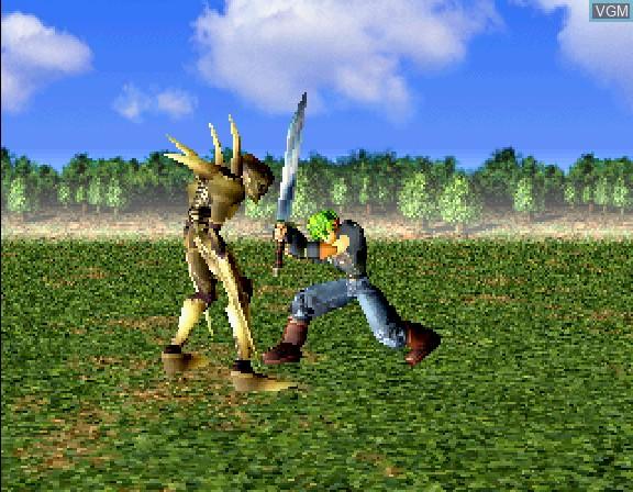 In-game screen of the game Zanma Chou Ougi - Valhollian on Sega Saturn
