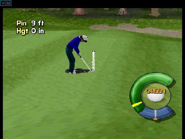 In-game screen of the game Actua Golf on Sega Saturn