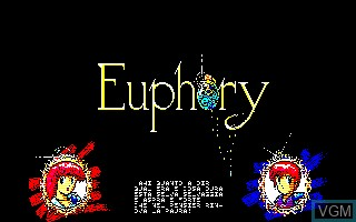 Title screen of the game Euphory on Sharp X1