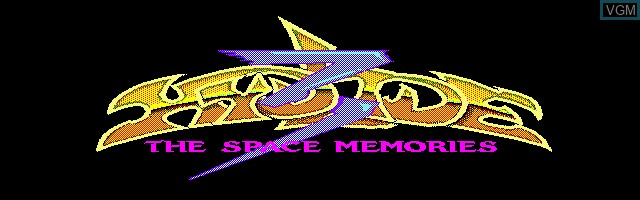 Title screen of the game Hydlide 3 - The Space Memories on Sharp X1