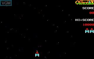 Menu screen of the game Galaxian on Sharp X1