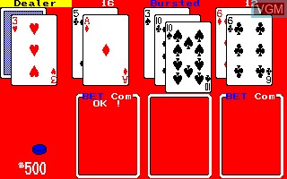 In-game screen of the game Card Games on Sharp X1