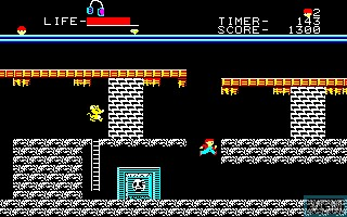 In-game screen of the game Goonies, The on Sharp X1