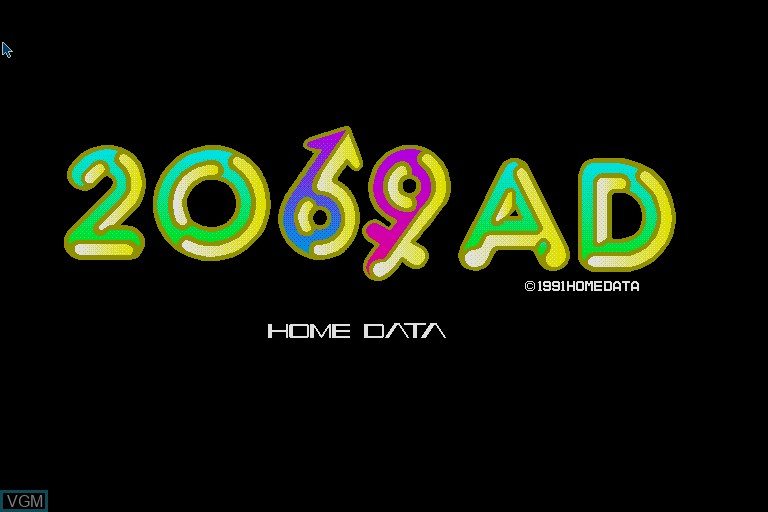 Title screen of the game 2069AD on Sharp X68000