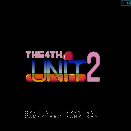 Title screen of the game 4th Unit Act 2, The on Sharp X68000