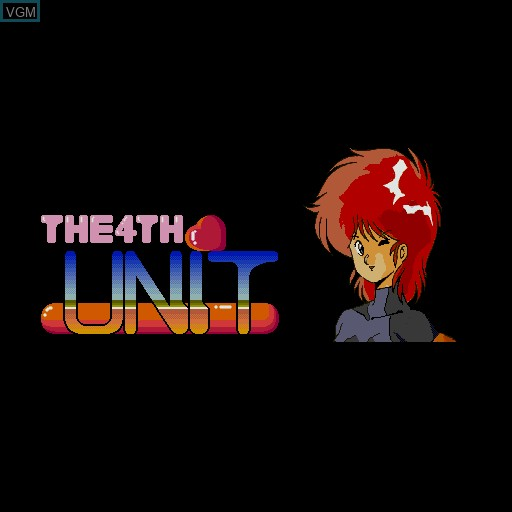Title screen of the game 4th Unit, The on Sharp X68000