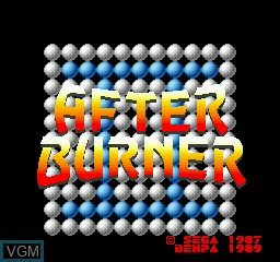 Title screen of the game After Burner on Sharp X68000