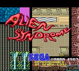 Title screen of the game Alien Syndrome on Sharp X68000