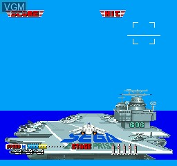Menu screen of the game After Burner on Sharp X68000
