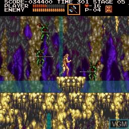 In-game screen of the game Akumajou Dracula on Sharp X68000
