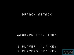 Title screen of the game Dragon Attack on Sord-M5
