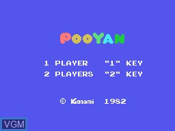 Title screen of the game Pooyan on Sord-M5