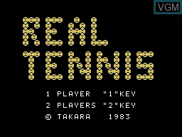 Title screen of the game Real Tennis on Sord-M5