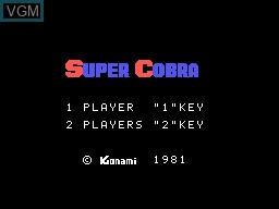 Title screen of the game Super Cobra on Sord-M5