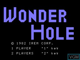 Title screen of the game Wonder Hole on Sord-M5
