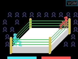 Menu screen of the game Heavy Boxing on Sord-M5