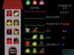 In-game screen of the game Fruit Search on Sord-M5