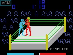 In-game screen of the game Heavy Boxing on Sord-M5