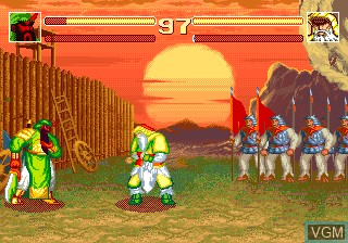 In-game screen of the game Sango Fighter on Funtech Super A'Can