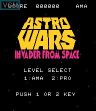 Title screen of the game Astro Wars - Invaders from Space on Epoch S. Cassette Vision