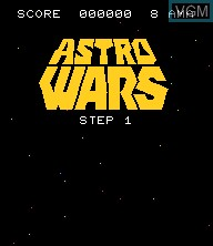 Menu screen of the game Astro Wars - Invaders from Space on Epoch S. Cassette Vision