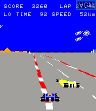 In-game screen of the game Pole Position II on Epoch S. Cassette Vision