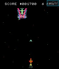 In-game screen of the game Astro Wars - Invaders from Space on Epoch S. Cassette Vision