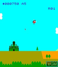 In-game screen of the game Sky Kid on Epoch S. Cassette Vision