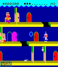 In-game screen of the game Doraemon on Epoch S. Cassette Vision
