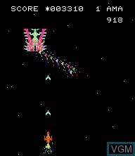 In-game screen of the game Astro Wars 2 - Battle in Galaxy on Epoch S. Cassette Vision