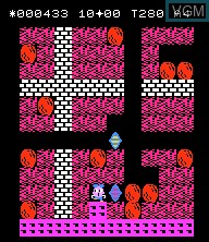 In-game screen of the game Boulder Dash on Epoch S. Cassette Vision