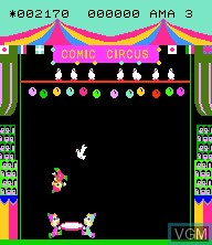 In-game screen of the game Comic Circus on Epoch S. Cassette Vision