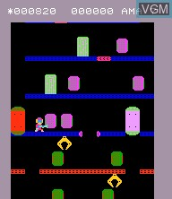 In-game screen of the game Elevator Fight on Epoch S. Cassette Vision