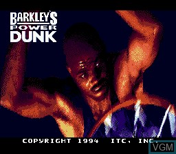 Title screen of the game Barkley's Power Dunk on Nintendo Super NES