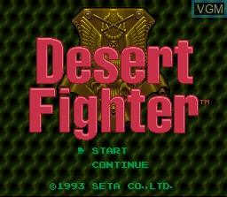 Title screen of the game Desert Fighter on Nintendo Super NES