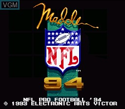 Title screen of the game NFL Pro Football '94 on Nintendo Super NES
