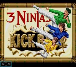 Title screen of the game 3 Ninjas Kick Back on Nintendo Super NES